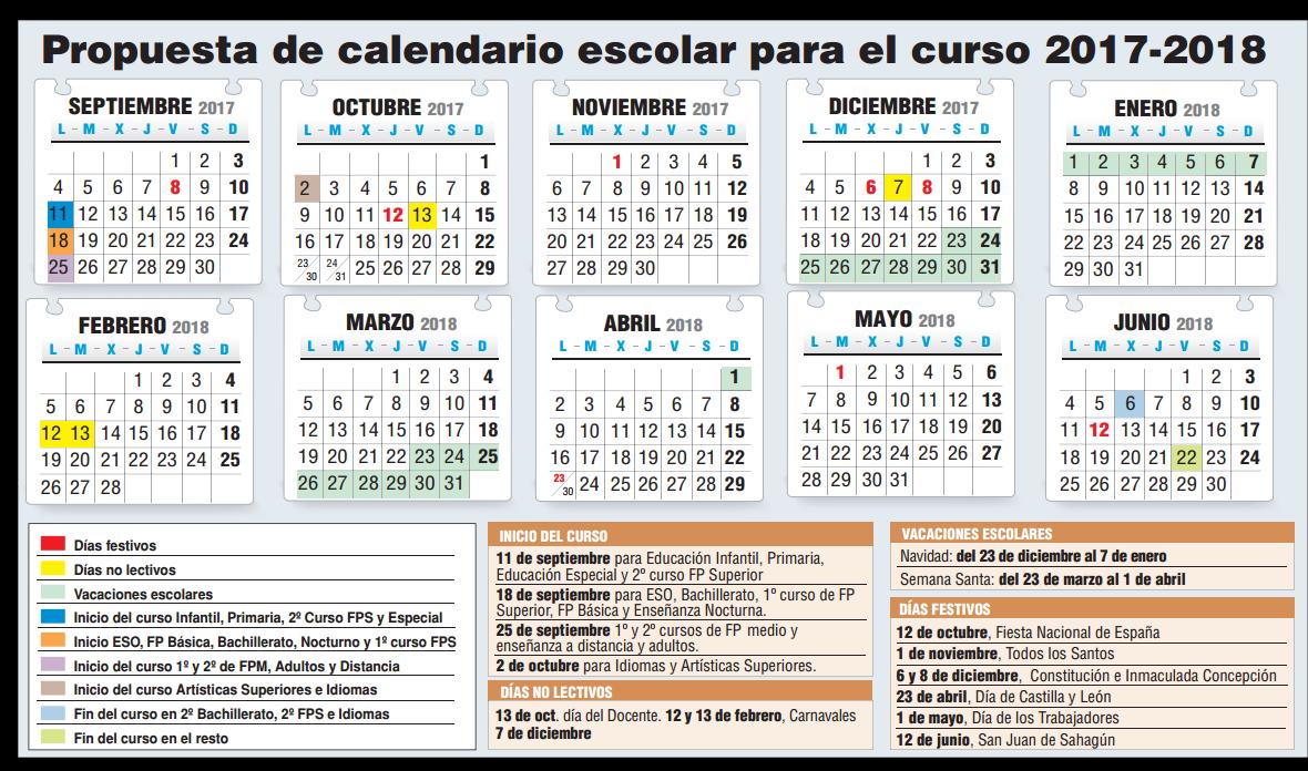 Propuesta calendario curso17 18 - Beca comedor valencia 2017 18 ...