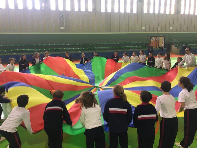 Educacion Fisica Juegos Cooperativos Con El Paracaidas