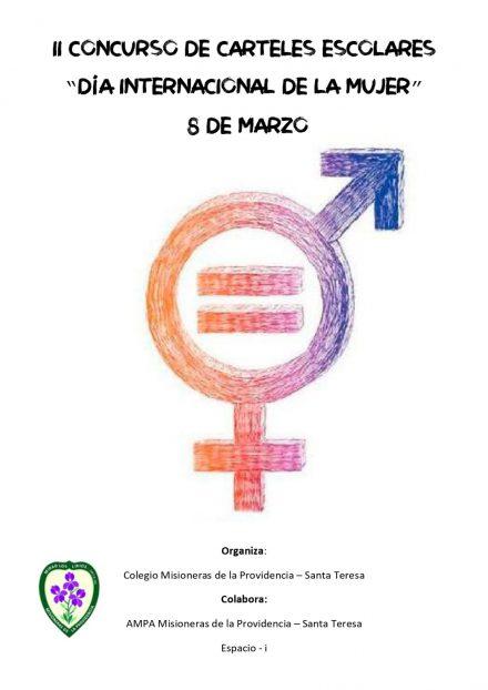 """II concurso de carteles """"Día Internacional de la mujer""""."""